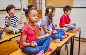 children in meditation
