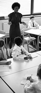 Teacher giving lesson