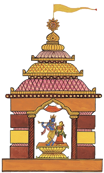 Artwork of Krishna Temple