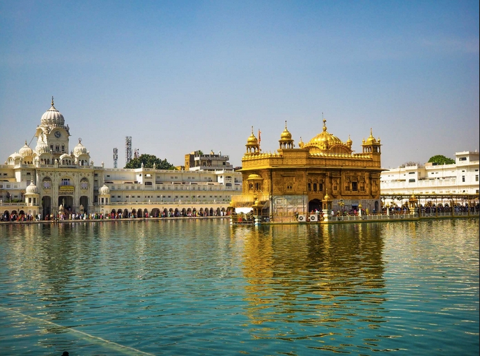 Harmandir Sahib in Amritsar, India,