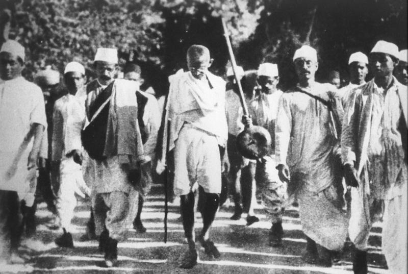 Gandhi on the Salt march: